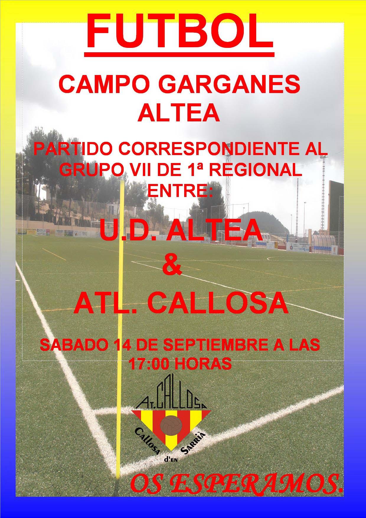 El Atlético Callosa comienza la Liga!!!